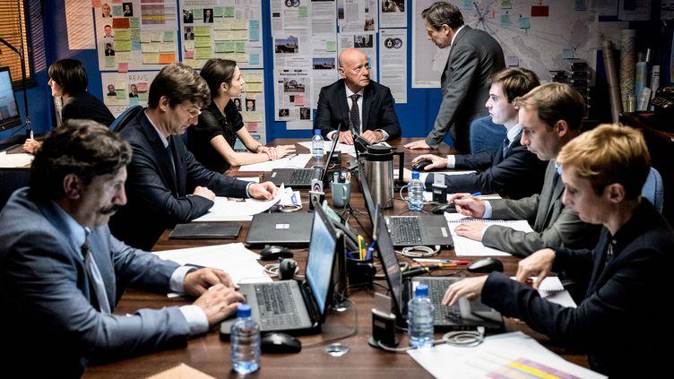 A l'intérieur du Bureau des Légendes, une photo de la saison 5 disponible à partir du 6 avril sur Canal +. (REMY GRANDROQUES / PHOTO NUMÉRIQUE)
