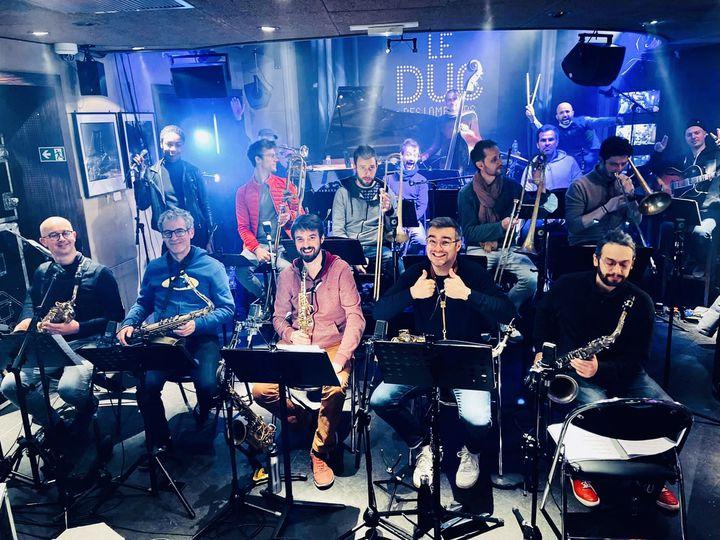 Des musiciens du Amazing Keystone Big Band au Duc des Lombards, à Paris, le 30 novembre 2020 (Sarah Benabbou)