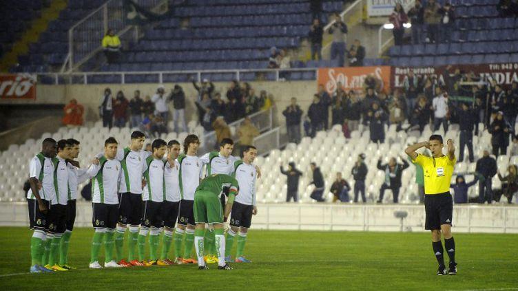 Les joueurs de Santander en grève (ANDER GILLENEA / AFP)