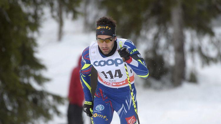 Martin Fourcade s'était dit fatigué avant sa course de ski de fond (MARTTI KAINULAINEN / LEHTIKUVA)