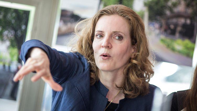 Nathalie Kosciusko-Morizet répond aux questions de journalistes lors d'une conférence de presse, le 20 mai 2015, à Paris. (MICHAEL BUNEL / NURPHOTO / AFP)