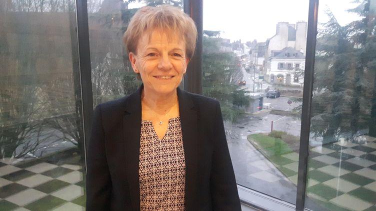 Christine Le Strat, maire de Pontivy, en Bretagne. (SÉBASTIEN BAER / FRANCE-INFO)