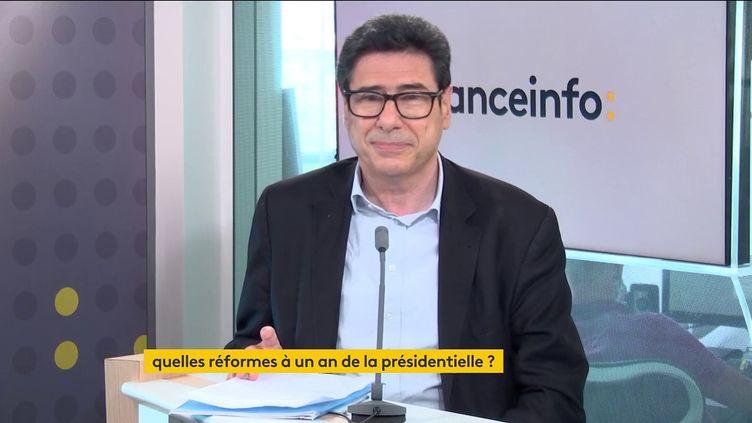 L'économiste Philippe Aghion (18 juin 2021). (FRANCEINFO / RADIO FRANCE)