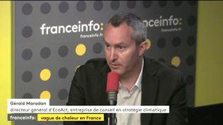 Gérald Maradan, directeur général d'Eco-Act, une entreprise de conseil en stratégie climatique, le 18 juillet 2017. (FRANCEINFO)