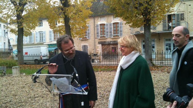 Eva Joly donne une conférence de presse jeudi 24 novembre à Rully en Bourgogne (DR)