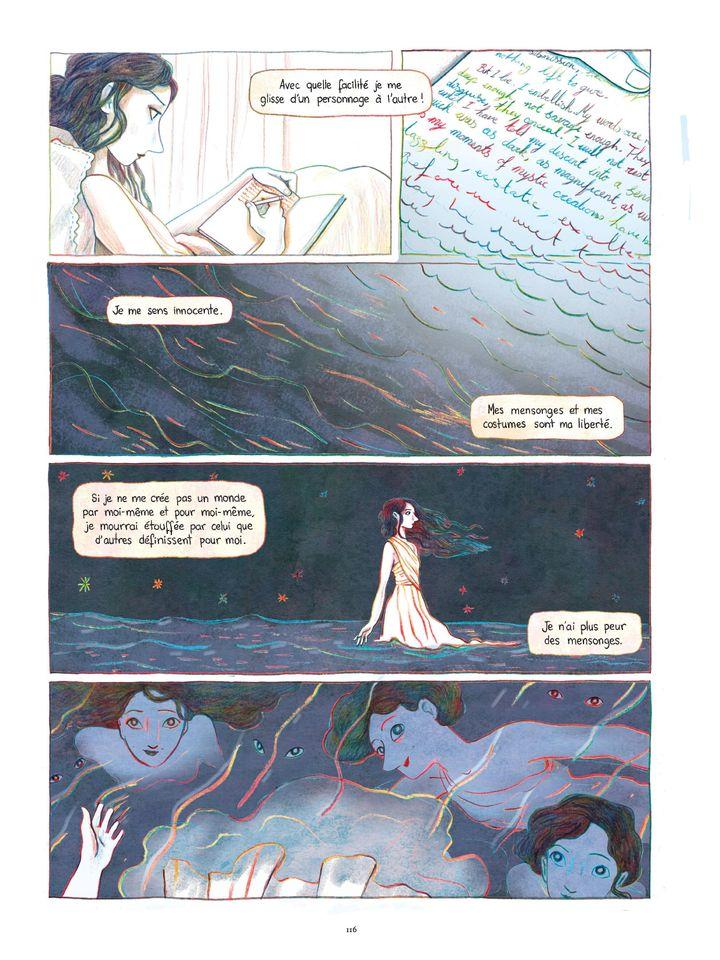 """Page 116 de l'album """"Anaïs Nin - Sur la mer des mensonges"""" de Léonie Bischoff. (Casterman / Léonie Bischoff)"""