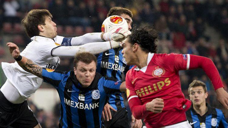 Le PSV Eindhoven surpris par Odessa (MARCEL VAN HOORN / ANP)