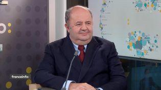 Richard Viel, directeur général de Bouygues Telecom, le 30 novembre sur franceinfo. (FRANCEINFO / RADIO FRANCE)
