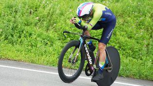 Primoz Roglic lors du contre-la-montre des Jeux Olympiques à Tokyo. (CHRISTOPHER JUE / EPA / MAXPPP)