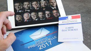 Illustration des onze candidats à l'élection présidentielle, à Mulhouse (Haut-Rhin), 27 mars 2017. (MAXPPP)