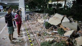 Un séisme de magnitude 7 a touché l'Indonésie le 5 août 2018 (MAXPPP MADE NAGI / EPA)