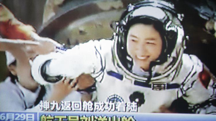 L'astronaute chinoise Liu Yang de retour sur Terre, le 29 juin 2012. (AFP)