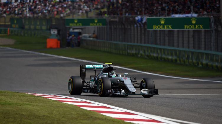 L'Allemand Nico Rosberg au volant de sa Mercedes (JOHANNES EISELE / AFP)