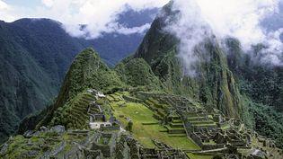 Le sanctuaire historique de Machu Picchu, construit à2430 m d'altitude au milieu d'une forêt tropicale du Pérou désormais menacée par l'exploitation forestière,est devenu un site protégé par l'Unesco en1983. (SUDRES JEAN-DANIEL / HEMIS.FR / AFP)
