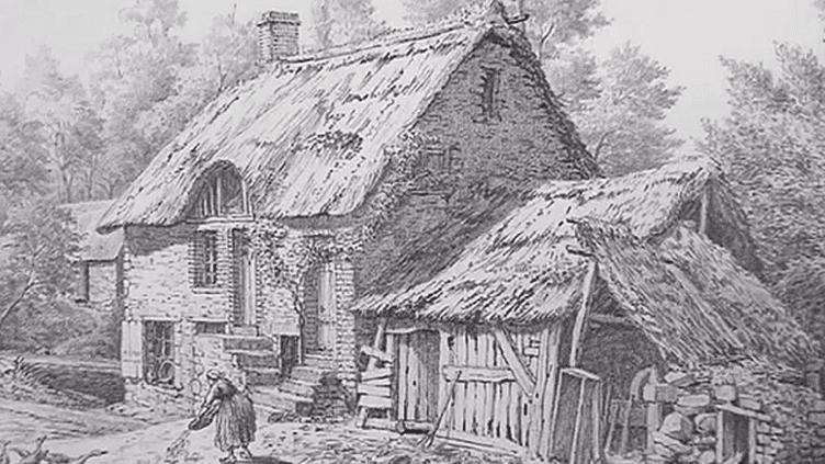 Une maison normande dessinée au milieu du XIXème siècle par Joseph le Dieu  (France 3)