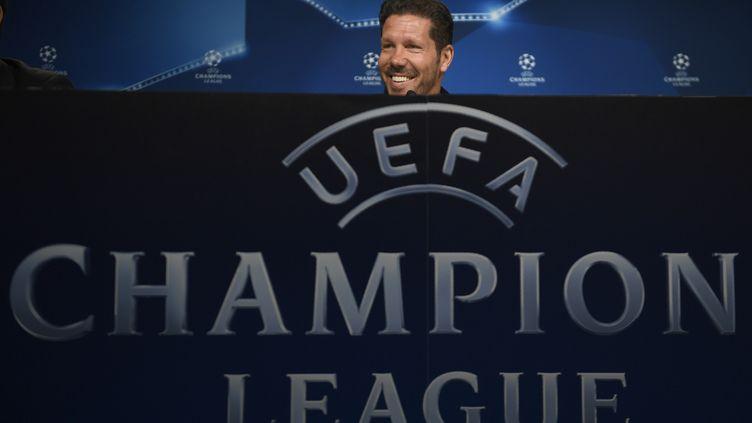 L'entraîneur de l'Atlético Madrid Diego Simeone (PIERRE-PHILIPPE MARCOU / AFP)