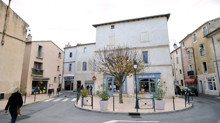 Le centre ville de Lunel (Hérault), où cinq jihadistes présumés ont été arrêtés mardi 27 janvier 2015. (SYLVAIN THOMAS / AFP)