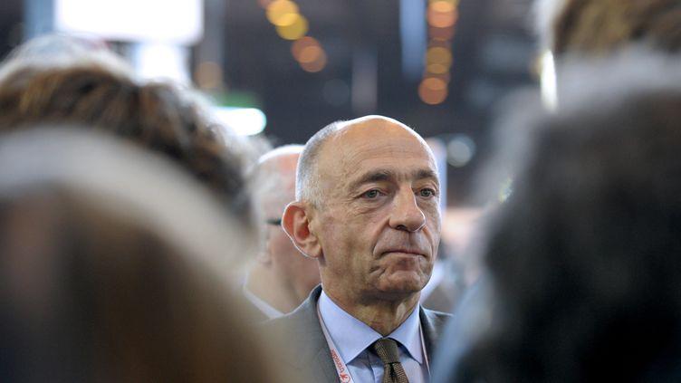 Jean-Marc Janaillac, alors PDG du groupe Transdev, au Salon européen de la mobilité, le 10 juin 2014, à Paris. (ERIC PIERMONT / AFP)