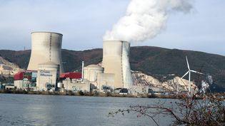 Vue sur la centrale nucléaire de Cruas-Meysse (Ardèche), le 28 novembre 2017. (MAXPPP)
