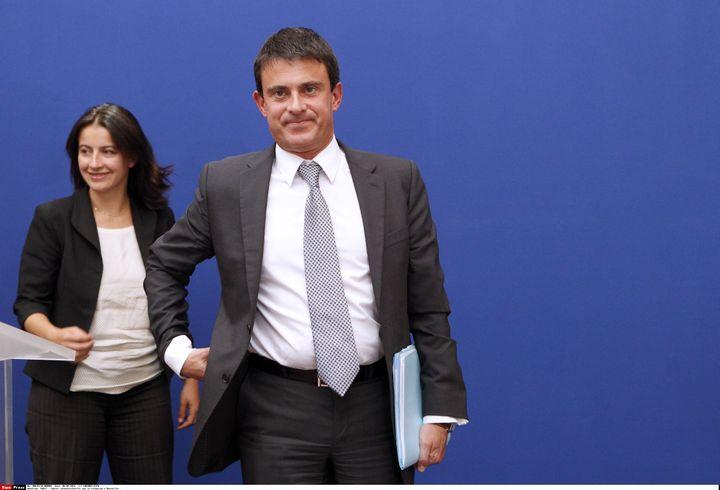 La ministre du Logement, Cécile Duflot,et le ministre de l'Intérieur, Manuel Valls, le 6 septembre 2012 à Matignon. (CHESNOT /SIPA)