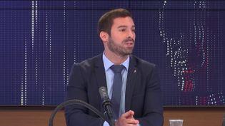 Julien Odoul, porte-parole du Rassemblement national, sur franceinfo le mardi 3 août 2021. (FRANCEINFO / RADIOFRANCE)