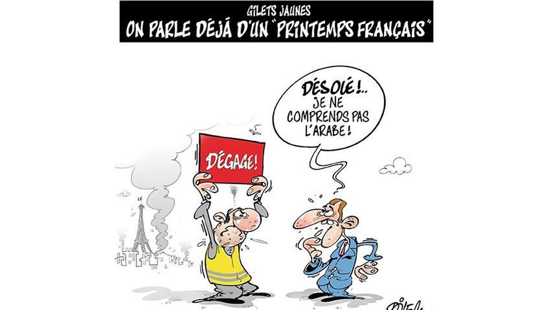 Les Gilets Jaunes Vus Par Les Caricaturistes Algeriens Entre Humour Et Printemps Arabe