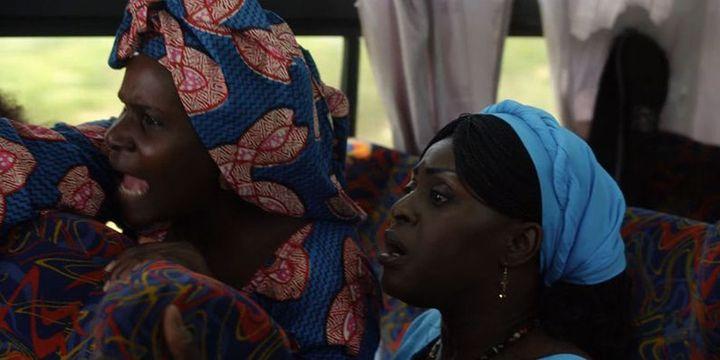 Adjara (Amélie Mbaye) et Emma (Naky Sy Savané) dans une scène du film «Frontières» (DR)