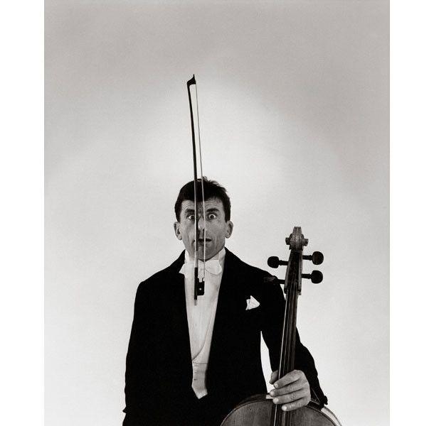 """Robert Doisneau, """"L'archet"""" (Maurice Baquet), 1958  (Atelier Robert Doisneau)"""