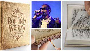 Snoop Dogg et son livre imprimé sur du papier... à rouler !  (DR / LE SAUX LIONEL/SIPA)