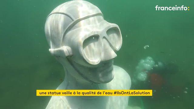 Au large des côtes marseillaises, une statue connectée veille à la qualité de l'eau