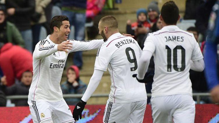 Cristiano Ronaldo et Karim Benzema (Getafe-Real Madrid) (PIERRE-PHILIPPE MARCOU / AFP)