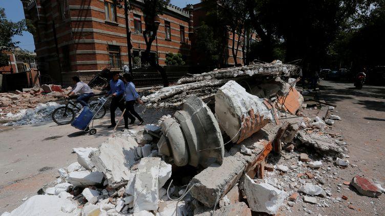 Le séisme de mardi est survenu 32 ans, jour pour jour, après le tremblement de terre meurtrier de 1985 qui avait fait plus de 10 000 morts. (CLAUDIA DAUT / REUTERS)