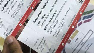 Billets de concert Tamer Hosny  (Capture d'écran Twitter)