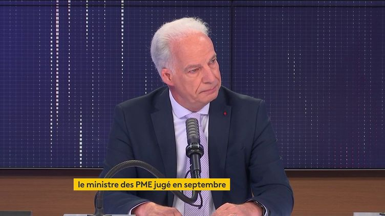 Alain Griset, ministre délégué chargé des PME, était l'invité de franceinfo lundi 2 août 2021. (FRANCEINFO / RADIO FRANCE)