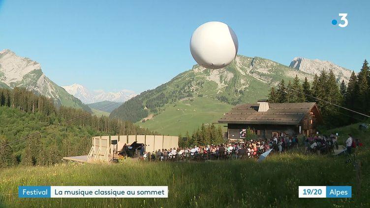 Festival Musique à Beauregard, dans le massif des Aravis, en Haute-Savoie (France 3 Rhône-Alpes)