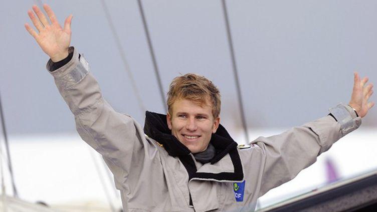 François Gabart est devenu à 29 ans le plus jeune vainqueur de l'histoire du Vendée Globe.  (JEAN-SEBASTIEN EVRARD / AFP)