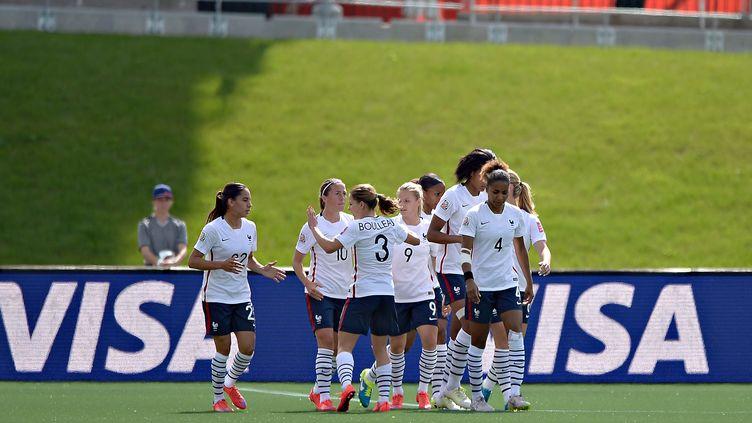L'équipe de France féminine, lors de sa nette victoire face au Mexique (5-0). (ISAAC ORTIZ / MEXSPORT)