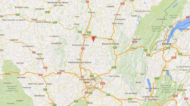 Un cambrioleur a été maîtrisé par le propriétaire d'une maison de Biziat (Ain), dans la nuit du 25 au 26 septembre 2015. ( GOOGLE MAPS)