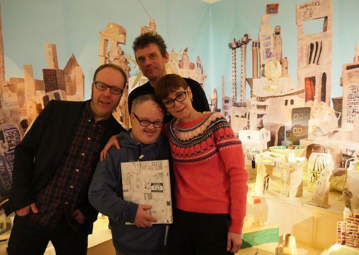 Erwin Dejasse, Thierry van Hasselt, Marcel Schmitz et Anne-Françoise Rouche  (Laurence Houot / Culturebox)