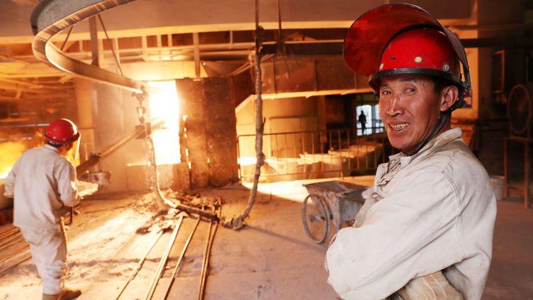 Une usine de sidérurgie à Huabei dans la province d'Anhui en Chine, le 7 novembre 2016 (XIE ZHENGYI / IMAGINECHINA)