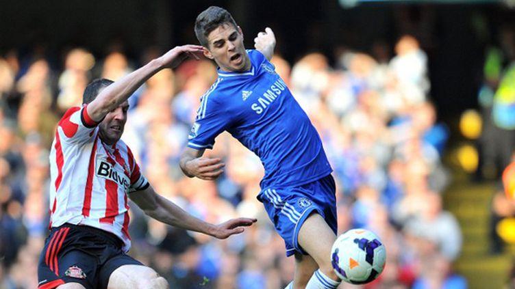 Oscar n'a pu que constater les dégâts contre Sunderland. (GLYN KIRK / AFP)