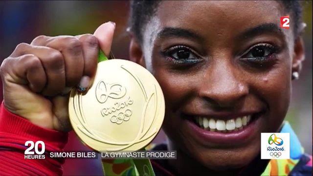 portrait de Simone Biles, une gymnaste hors du commun