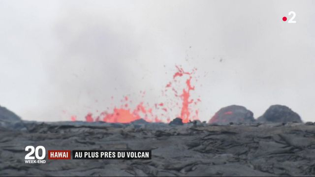 Hawaï : au plus près d'un volcan très actif