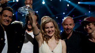 Emmelie de Forest samedi soir, lors de sa victoire à l'Eurovision 2013.  (Sander Esterman)