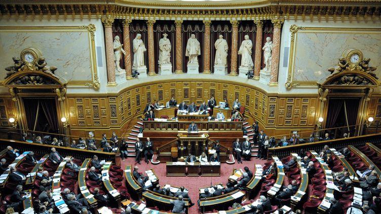 Le Sénat lors des débats sur la proposition de loi accordant le droit de vote aux étrangers, à Paris, le 8 décembre 2011. (BERTRAND GUAY / AFP)