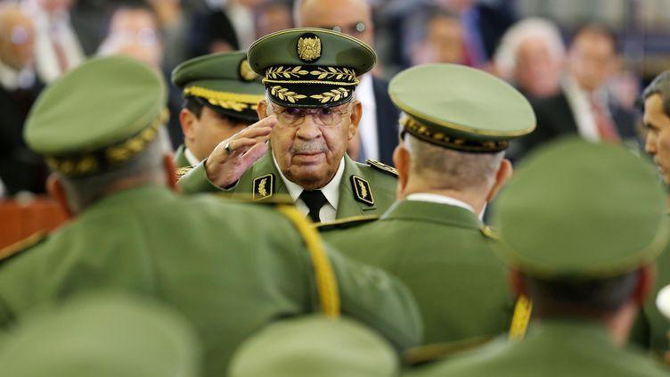 Le général Gaïd Salah à la cérémonie d'investiture du nouveau président algérien Abdelmadjid Tebboube, le 19 décembre 2019. (BILLAL BENSALEM / NURPHOTO)