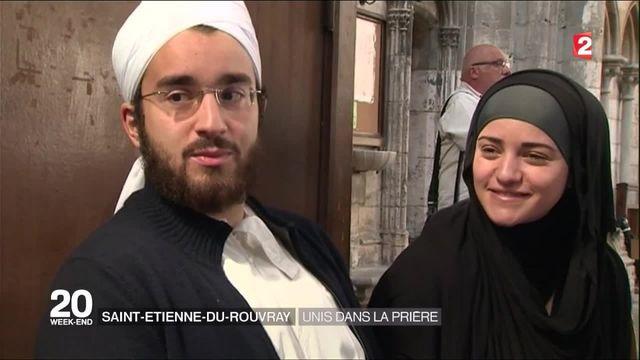 Saint-Etienne-du-Rouvray : à Rouen, chrétiens et musulmans ont rendu hommage au père Hamel