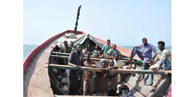 """30 hommes sont à bord de """"La Pirogue"""" en route vers l'Espagne  (DR)"""