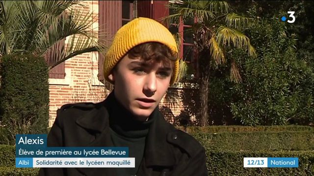 Albi : solidarité avec un lycéen maquillé