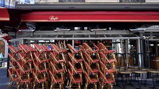 Un restaurant fermé, le 31 mai 2020 à Paris. (BERTRAND GUAY / AFP)